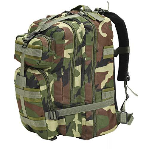 vidaXL Zaino Stile Militare 50 L Mimetico Sacca da Trekking Borsa da Viaggio