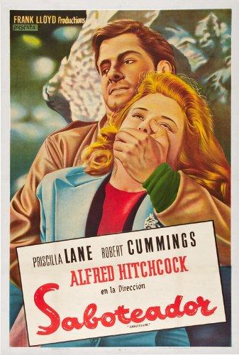 Saboteur Movie Poster (27 x 40 Inches - 69cm x 102cm) (1942) Belgian -(Priscilla Lane)(Robert Cummings)(Otto Kruger)(Alan Baxter)(Norman Lloyd)(Charles Halton)
