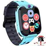 "Kids Game Smart Watch Phone - 1.54"" Touch Screen Game Smartwatches with [1GB Micro SD Card] Call SOS Camera 7 Games Alarm Clock Music Player Record for Children Boys Girls Birthday Gifts 3-10 (blue)"