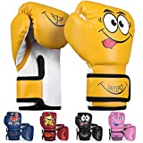 Jayefo Kids Boxing Gloves (Yellow, 4 OZ)