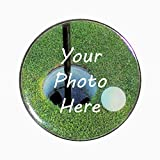 Jumbo Golf Ball Marker - Large Black Poker Chip Sized Ball Maker - Over 1.5' Diameter Ball Marker Customized with Your Photo