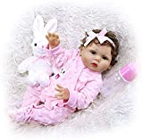 Reborn Baby Doll de Cuerpo Completo Solicone Doll Reborn Todderl Girl Curly Hand Rooted Hair Doll Bath Toy Gift Set 47CM 19 Pulgadas