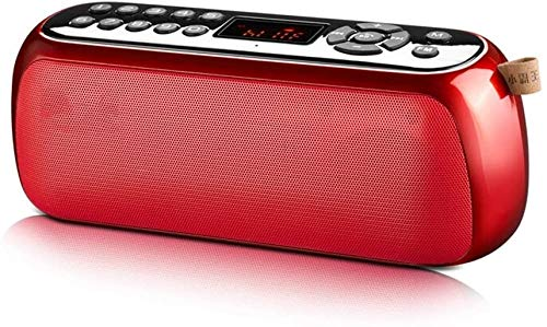 Mopoq Drahtlose Bluetooth-Lautsprecher - Tragbare Karte/USB-Flash-Laufwerk Computer-Klein Ton Intelligent Voice Call Digital-Song-Lautsprecher (Color : Rot)