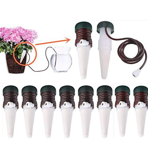 Mioke Wasserspender für Pflanzen Automatische,10 PCS Keramik Pflanzen Bewässerung Bewässerungssystem System