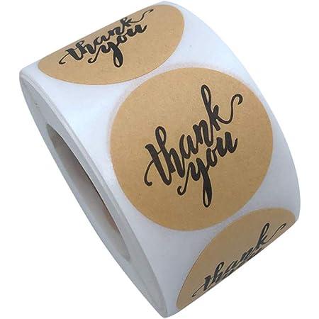 10 Roll Round Kraft Paper Label Blank Sticker DIY Gift Tags Envelope Sealing Xma