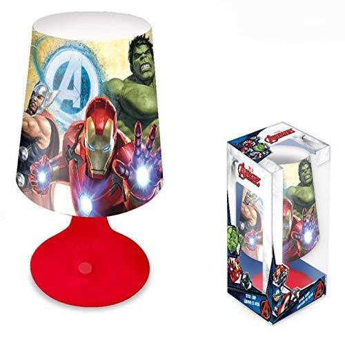 Lampada da notte comodino Marvel Avengers luce a LED da tavolo bambini 1309