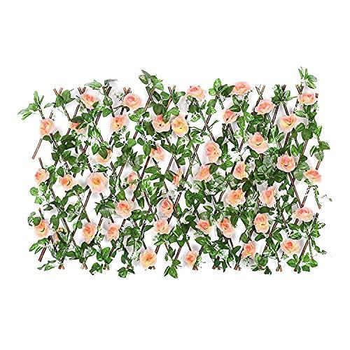 GPWDSN Pantalla de Cobertura de Hiedra Artificial, Paneles de Cobertura de Hojas de Flores, Cobertura de Madera, Enrejado retráctil, Valla, Rollo de proyección, decoración de jardín, Pant