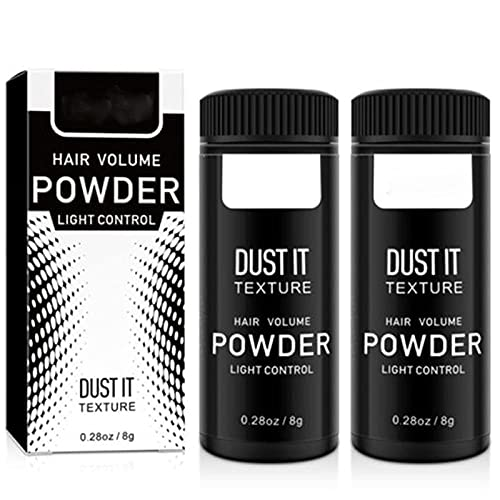 HWDDDEG Polvo para modelar el Cabello Esponjoso Unisex, 8 g Polvo matificante refrescante para el Cabello Polvo voluminizador para Peinado sin ensuciar para Mujeres y Hombres (2PCS)