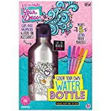 Just My Style Color Your Own Water Bottle by Horizon Group USA, DIY Bottle Coloring Craft Kit, BPA Free, Personalize & Decorate Using Colorful Markers & Gemstones