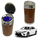Oshotto High Temperature Portable Wooden Design Car Ashtray for Toyota Camry