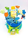 Tarta de Pañales DODOT con 3 Productos Weleda | Modelo 'PRINCIPITO' | Baby...