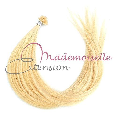 Extension Cheveux kératine - Gamme Density - Blond très clair doré - 55/60 cm