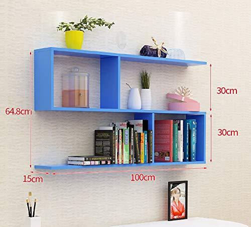 Wandrek in S-vorm van keukenkast, bloempot, wandrek, zwevende plank, CD-rek, DVD-rek, opslageenheid voor kantoor, thuis, lengte 100 cm (kleur: ROSA)
