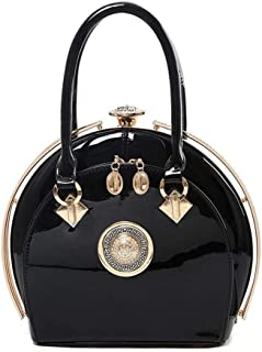 Redland Art Women's Fashion Sparkly PU Leather Mini Clutch Bag Wristlet Evening Handbag Catching Purse Bag for Wedding Party (Color : Black)