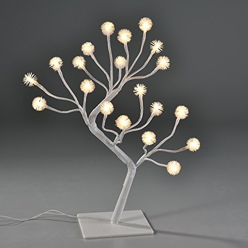 [in.tec] Albero luminoso LED 45cm Illuminazione Fiocchi di neve bianco caldo Albero di Natale Decorazione per interni Decorazione da tavolo