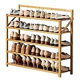 Zapatero Bambú Zapatero Para Entrada, Plegable Organizador Del Armario Del Estante Del Zapato 29,5 Pulgadas De Alto, Ahorrador De Espacio Torre De Zapatos Por Vestíbulo Balcón ( Color : Wood color )