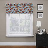 carmaxs Window Treatments Rowan Lined Scallop Valance Abstract Backdrop with Dried Leaf an...