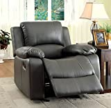 Furniture of America Robyn Leatherette Recliner Chair
