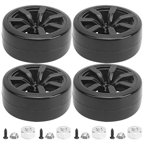 Neumáticos de orugas RC 4 Piezas 63 mm Neumáticos de Goma RC Neumáticos de Deriva Ajuste de Repuesto para WPL D12 (015BL) RC Car
