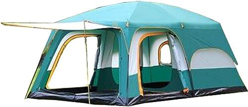 VATHJ Deux Chambres, Une Salle, Tente, Camping en Plein air, 6 Personnes, 8 Personnes, 10 Personnes, 12 Personnes, Deux Chambres, Une Salle, Tente Multi-Personnes étanche à la Pluie