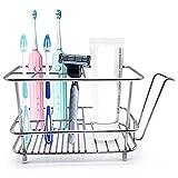 Camisin Soporte de cepillo de dientes para pared o mostrador de baño, alfombrilla antideslizante sin taladros, organizador de cepillo de dientes electrónico