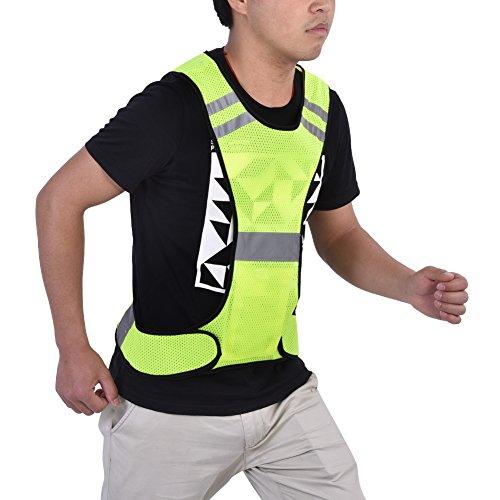 Chaleco LED, Chaleco para Correr Fluorescente Durable Precaución Chaleco De Seguridad para Exteriores Chaleco Reflectante para Corredor Nocturno para Deportes Al Aire Libre
