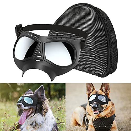 Lewondr Gafas de Sol para Perros, Anteojos Plegables...