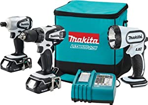 Makita LCT300W 18-Volt Compact Lithium-Ion Cordless 3-Piece Combo Kit from Makita