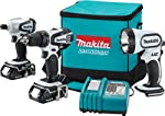 Makita LCT300W 18-Volt Compact Lithium-Ion Cordless 3-Piece Combo Kit