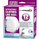 12M Retractable Clothes Reel LINE PVC Coated Dryer Washing Outdoor + FIXINGS New