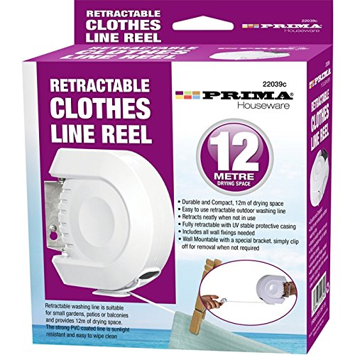 BARGAINS-GALORE 12M Retractable Clothes Reel LINE PVC Coated Dryer