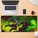 Gaming Mouse Pad Große Mauspad World of Warcraft Wow Illidan Gourdan Spiel Tastatur-Mat Erweiterte Mousepad Computer PC-Mausunterlage (Color : 800 * 300mm, Size : 3mm)