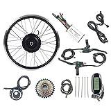 GJZhuan 48V250W Rueda Trasera Girar Bicicleta Bicicleta eléctrica Kit de conversión eléctrica Motor de la Rueda con LCD6 Ebike Kit de visualización,28inch LCD Sets