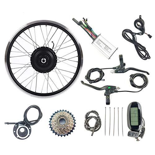 GGD Kit de conversión eléctrica de la Bicicleta, la Rueda Trasera de la Bici Bicicleta eléctrica Kit de conversión eléctrica Motor de la Rueda con LCD6 48V250W Kit de visualización,26inch LCD Sets