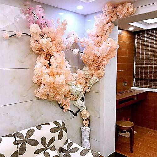 YANG Árbol Artificial de la Flor de Cerezo Planta Artificial para Eventos Fiesta al Aire Libre Interior Restaurante Centro Comercial Flor de Seda