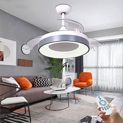 Moderne Deckenventilator mit Beleuchtung Fernbedienung Dimmbare LED-Deckenleuchte Verstellbare Ventilator Quiet Deckenventilator Wohnzimmer Licht Schlafzimmer Kinderzimmer Deckenleuchten