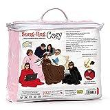 Snug Rug Cosy Comodo tappeto accogliente, coperta in pile con maniche e una tasca Handy Pocket-Rosa Pink