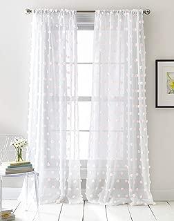 DKNY Ella Sheer Window Curtain Panel Pair, 50 x 96 inch, Pink