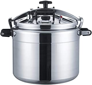 Commercial Large Capacity Pot, 18L-70L Aluminum Alloy Universal Pressure Cooker, Induction Cooker Universal Pot Kitchen Utensils Can Be Used In Kitchen Hotel Supplies (Color : Silver, Size : 33L)