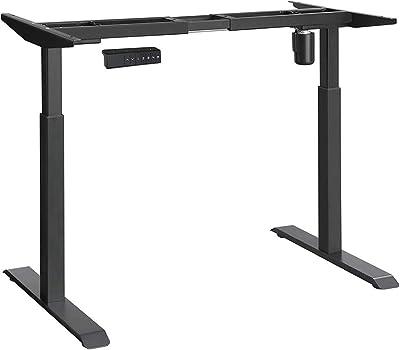 SONGMICS Tischgestell, Schreibtischgestell, elektrischer Schreibtisch, Tischständer mit Motor, stufenlose Höhenverstellung, mit Speicherfunktion, Länge verstellbar, Stahl, schwarz, LSD11BK