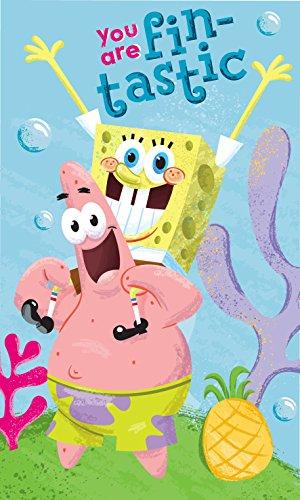 Bob l'éponge Spongebob Schwammkopf Badetuch, Baumwolle, Mehrfarbig, 30x 25x 1cm
