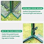 Quictent 49''x37''x36'' Extra-Thick Galvanized Steel Raised Garden Bed Planter Kit Box with Greenhouse 2 Large Zipper… 13 √【Dual Use Raised Bed】Use the raised garden bed and greenhouse together to keep plants warm and growing in winter and spring. Or move the greenhouse to keep other small plants to grow, do as your need. Give you more freedom to use these two parts. √【Extra-thick Reinforced Galvanized Steel】--- 0.5mm thickness galvanized side, 1.0mm galvanized sheet for corner, 11.8inch in height, perfect size with extra-thick steel, stable for using at least 5 years. √【Eco-friendly Galvanized Paint】--- Use eco-friendly galvanized paint, efficiently prevent rust; And with the advanced dark grey, the most popular color, give your garden more beauty. Also never worry about that pest and rain damage the wood garden bed; galvanized steel garden bed provides lasting use and no discoloration.