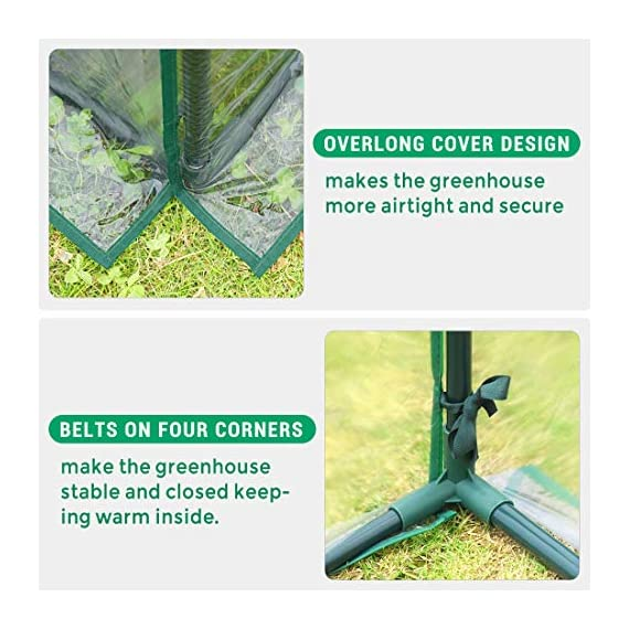 Quictent 49''x37''x36'' Extra-Thick Galvanized Steel Raised Garden Bed Planter Kit Box with Greenhouse 2 Large Zipper… 4 √【Dual Use Raised Bed】Use the raised garden bed and greenhouse together to keep plants warm and growing in winter and spring. Or move the greenhouse to keep other small plants to grow, do as your need. Give you more freedom to use these two parts. √【Extra-thick Reinforced Galvanized Steel】--- 0.5mm thickness galvanized side, 1.0mm galvanized sheet for corner, 11.8inch in height, perfect size with extra-thick steel, stable for using at least 5 years. √【Eco-friendly Galvanized Paint】--- Use eco-friendly galvanized paint, efficiently prevent rust; And with the advanced dark grey, the most popular color, give your garden more beauty. Also never worry about that pest and rain damage the wood garden bed; galvanized steel garden bed provides lasting use and no discoloration.