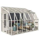 RION Kunststoff Anlehngewächshaus / Wintergarten 'Sun Room 46' (384 x 258 x 266cm (TxBxH) + Dachfenster