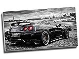 Sportwagenkunstdruck auf Leinwand, Motiv Nissan Skyline