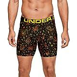 Under Armour Men's Tech 6inch Boxer Brief Boxerjock - 1 Pack, Black (008)/Black, Medium