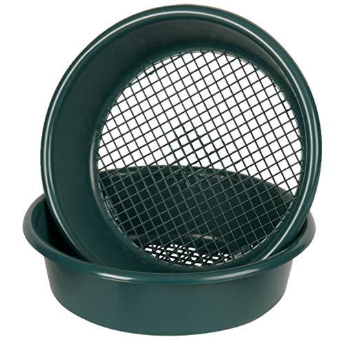Wham Large Plastic Round Garden Sieve Riddle Riddler Soil Sifter Mesh Gardening Tool - Green