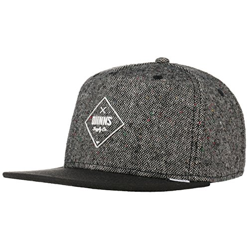 Djinns - Snapback Cap - 5p Sb - Rubber Tweed - Black, Charcoal, one size