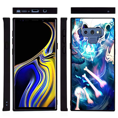 Square Undertale Samsung Galaxy Note 9 Case Black Frame Slim Soft Flexible Shockproof Case for Samsung Galaxy Note 9