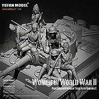 1/35 樹脂フィギュアキットドイツ女性タンク兵士モデル自己組織化 (6 セット) YFWW-2065